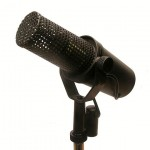 Two classic dynamic microphones