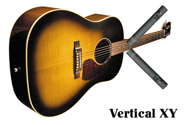 recording acoustic guitar - vertical XY