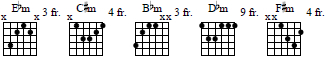 various minor chords
