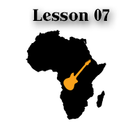 fingerpicking guitar lesson - African style with tab 07