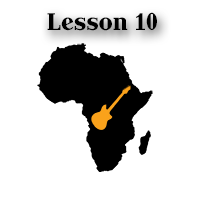 african guitar of the soukous style - lesson and tab 10
