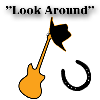 country fingerstyle guitar with downloadable tab, guitar and bass backing track - look around