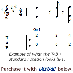 guitar tab example