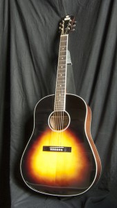 The RAJ-16 guitar made by Recording King is a beautiful little acoustic slope shoulder dread