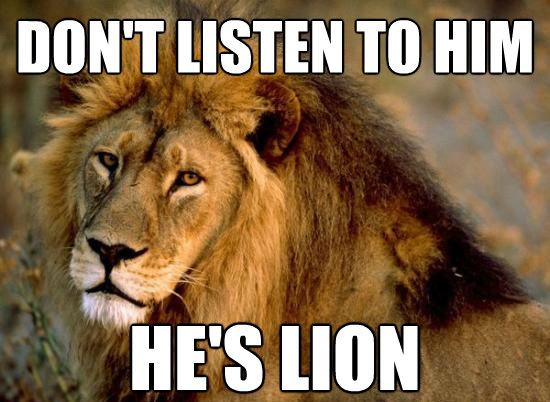 this lion can listen critically