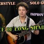 """Dance Of Long Shadows"" - Solo Fingerstyle Jazz Guitar Free Improvisation 11 - with Polyphonic Parts"