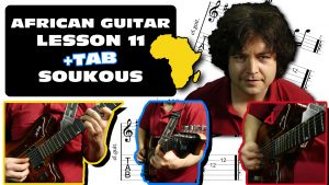 african fingerstyle soukous guitar lesson & tab