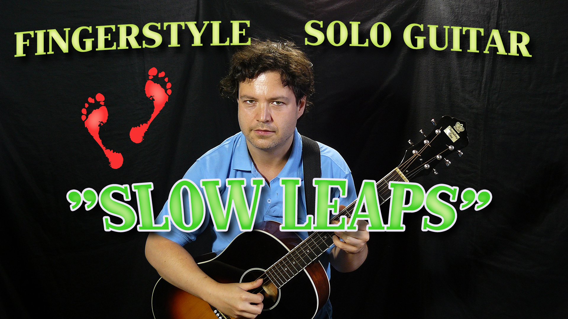 slow leaps fingerstyle acoustic polyphonic solo guitar