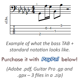 bass tab example