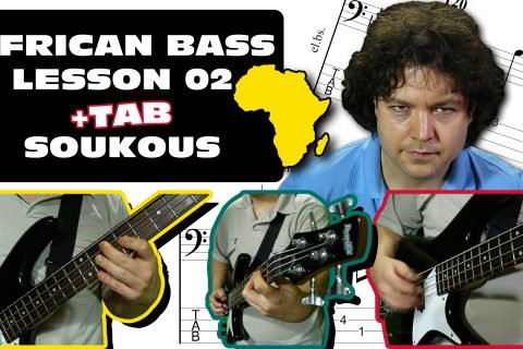 african bass lesson sebene soukous 02 with fingerpicks & thumbpick