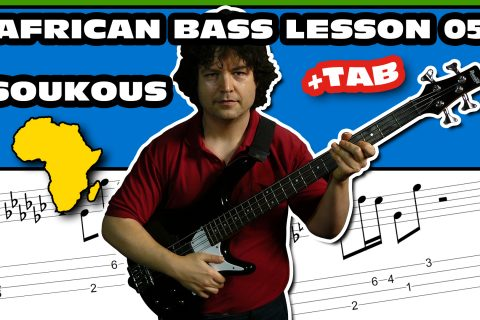 soukous & sebene african bass lesson + tab 05