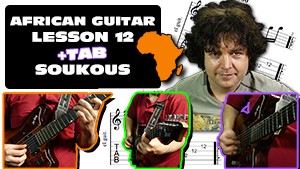 african soukous guitar lesson with pdf tab and guitarpro 12