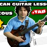 african soukous fingerstyle guitar & tab - lesson 13