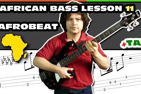 afrobeat african bass guitar lesson and tab - 11