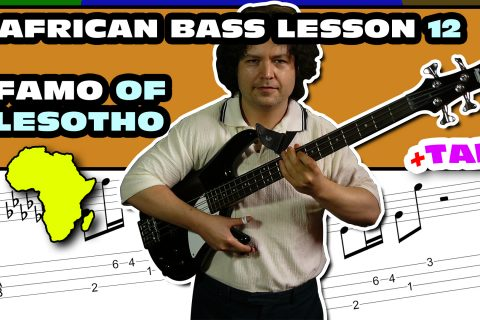 famo african bass lesson with tab download 12