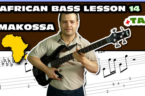 african makossa bass guitar tutorial with tab lesson 14