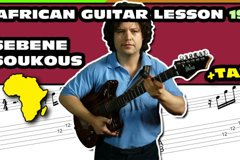 african sebene guitar lesson with tab - 19