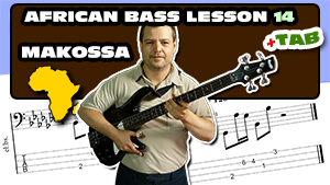 Makossa bass lesson with tablature